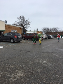 Lots of people wore fun costumes- Santas, trees, Elf, and fun Christmas sweaters!